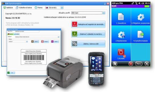 Označenie majetku, inventúra s mobilným terminálom a vyhodnotenie